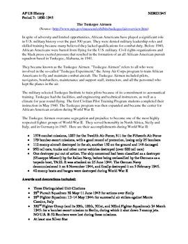 AP US History Period 7:  Minorities in WWII