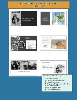 AP US History - Period 7 (Pt. 2) (PPT, Primary Sources, Extension Activities)