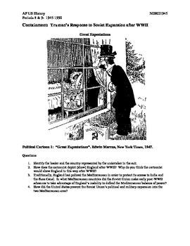 AP US History Period 8:  Cold War Political Cartoons