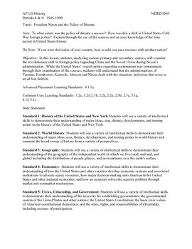 AP US History Period 8:  The Presidency of Nixon