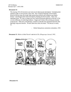 AP US History Period 9:  Reagan's Presidency