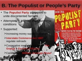 APUSH Power Presentation: Populism & Progressivism