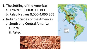 AP US History Pre-Columbian Americas and The American Colonies
