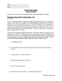 AP US History - Primary Source Worksheet Packet Activity - Time Period 3