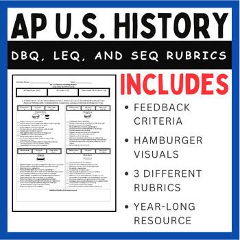 ap u s history rubric long essay dbq short response ready