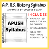 AP U.S. History Syllabus - College Board Approved (2015 Updated)