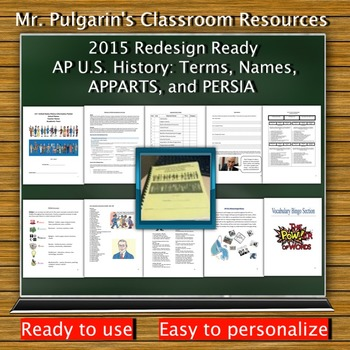 2015 Redesign Updated - AP U.S. History: Terms, Names, APPARTS, and PERSIA