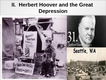 APUSH Power Presentation: The Great Depression & The New Deal