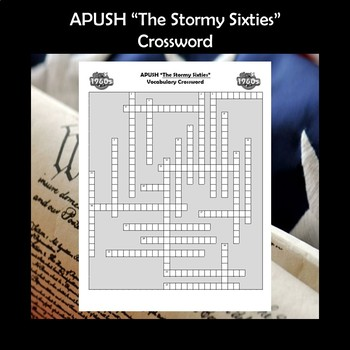 APUSH The Stormy Sixties Vocabulary Crossword Review