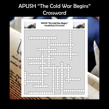 AP US History Vocabulary Review The Cold War Begins Crossword Puzzle APUSH