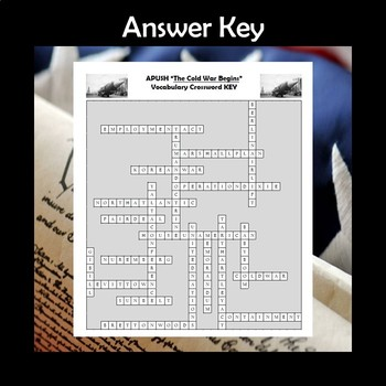 APUSH The Cold War Begins Vocabulary Crossword Review