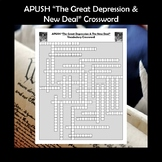 APUSH The Great Depression & New Deal Vocabulary Review Crossword