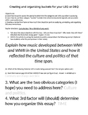 AP US History (or other class) Document Based Question Organization Lesson.