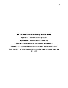 AP United States History Classroom Resources