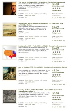 AP United States History - Period 4 PowerPoints - New Curriculum Framework - ALL