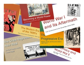 AP United States History - Period 7 PowerPoints - New Curriculum Framework - ALL