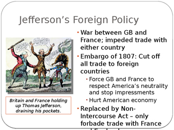 AP US History Key Period 4: Jefferson and Madison's Adminsitrations