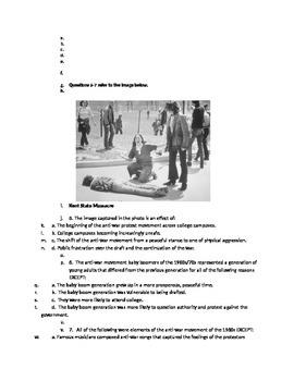 AP Vietnam and the Anti-War Movement Quiz