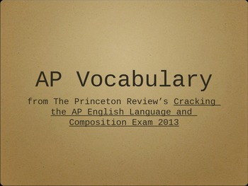 AP Vocabulary Powerpoint from The Princeton Review