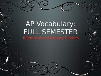 AP Lang and Lit Vocabulary Terms, Definitions, and Examples for FULL SEMESTER