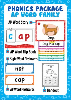 'AP WORD FAMILY' Phonics Lesson Package