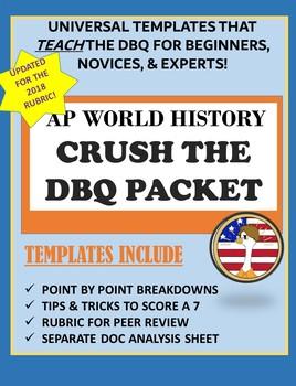 AP WORLD HISTORY CRUSH THE DBQ: Template & Analysis Sheet