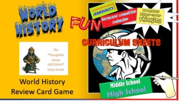 AP WORLD HISTORY Card game  (The THOUGHTFUL HISTORIAN)