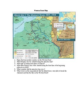 AP WWI: Western Front Map