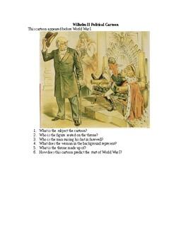 AP WWI: Wilhelm II Political Cartoon