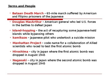 AP WWII: The Defeat of Japan and the End of World War II