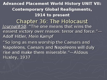 AP WWII: The Holocaust