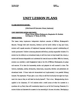 AP William Shakespeare, Tennesse Williams Unit