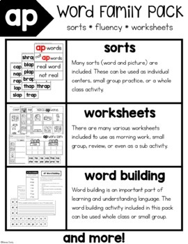 AP Word Family Activities