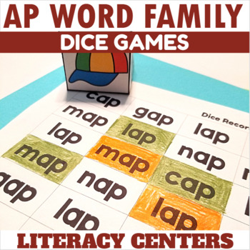 AP Word Family Dice Games for Centers or Small Groups
