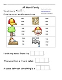 AP Word Family Worksheet