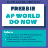 AP World Do Now Sheet (Sample)