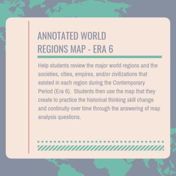 AP World Era 6 Annotated World Regions Map