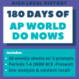 AP World History: 180 days of Do Nows / Bell Ringers (Peri