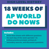 AP World History: 90 days of Do Nows / Bell Ringers (Fall)