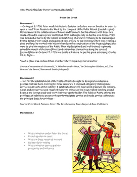 AP World History Absolutism Documents