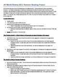 AP World History Advanced Summer Reading Project