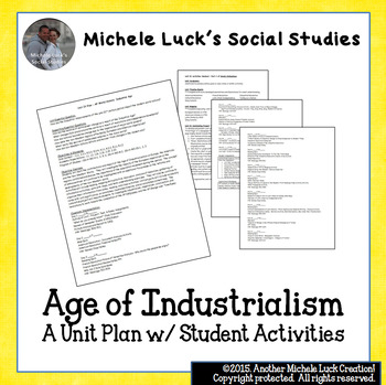 AP World History Age of Industrialism Unit Plan w/Student Activities
