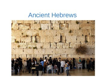AP World History Ancient Hebrews and Israel Guided Notes