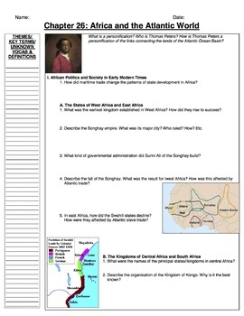 AP World History Bentley, Guided Notes Ch. 1-40