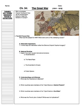 AP World History Bentley, Guided Notes Ch. 21-40