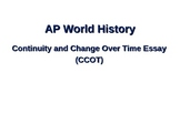 AP World History CCOT Introduction Lesson