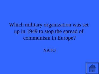 AP World History: Cold War Jeopardy PowerPoint Review