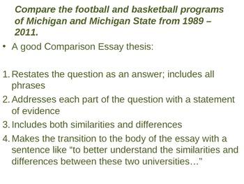 AP World History Comparison Essay Introduction