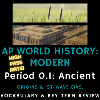 PowerPoint AP World History - Complete Period 1 Vocabulary Review  Presentation