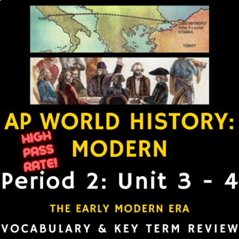 AP World History - Complete Period 4 Vocabulary Review PowerPoint Presentations